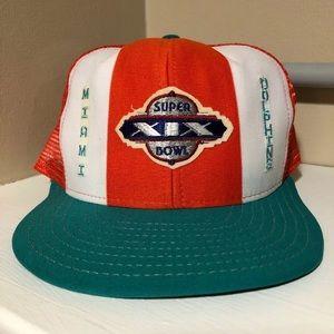 Vintage Miami Dolphins Snapback Hat Super Bowl XIX